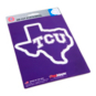 TCU Horned Frogs State Shape Decal