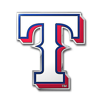 Texas Rangers Embossed Logo Car Emblem