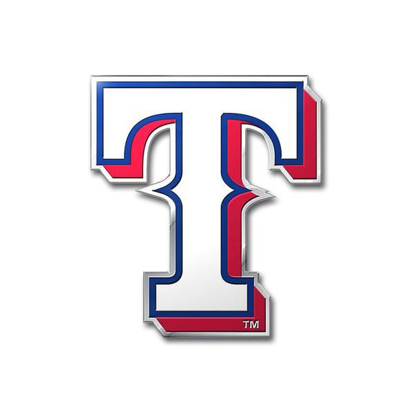 Texas Rangers Embossed Logo Car Emblem