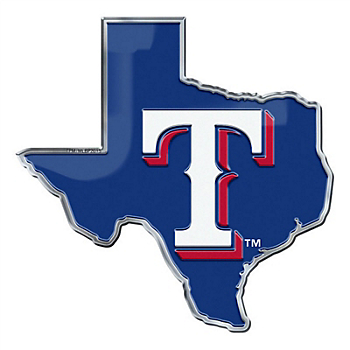 Texas Rangers Royal Blue State Car Emblem