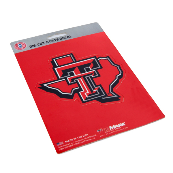 Texas Tech Red Raiders State Shape Decal