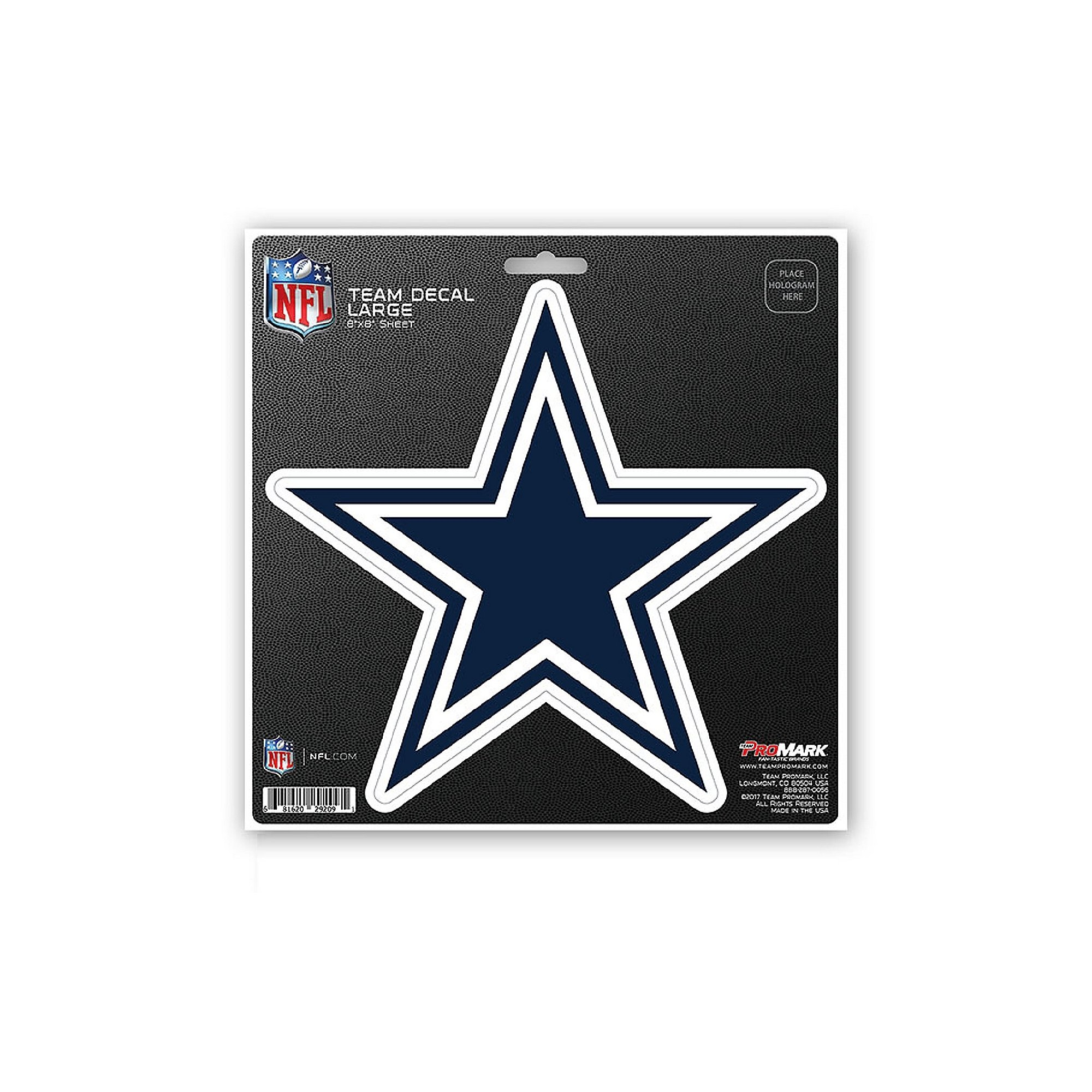 Dallas Cowboys 8x8 Logo Decal
