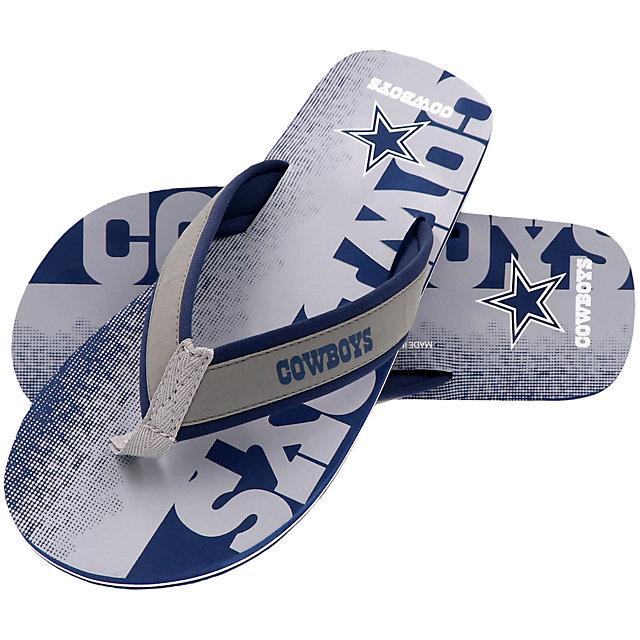 Dallas Cowboys Mens Fade Flip Flops