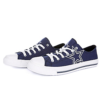 Dallas Cowboys Mens Logo Canvas Shoes