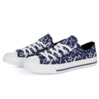 Dallas Cowboys Womens Repeat Logo Canvas Shoes