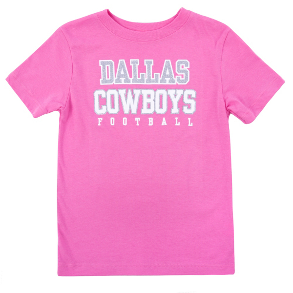 Dallas Cowboys Toddler Practice Glitter Tee