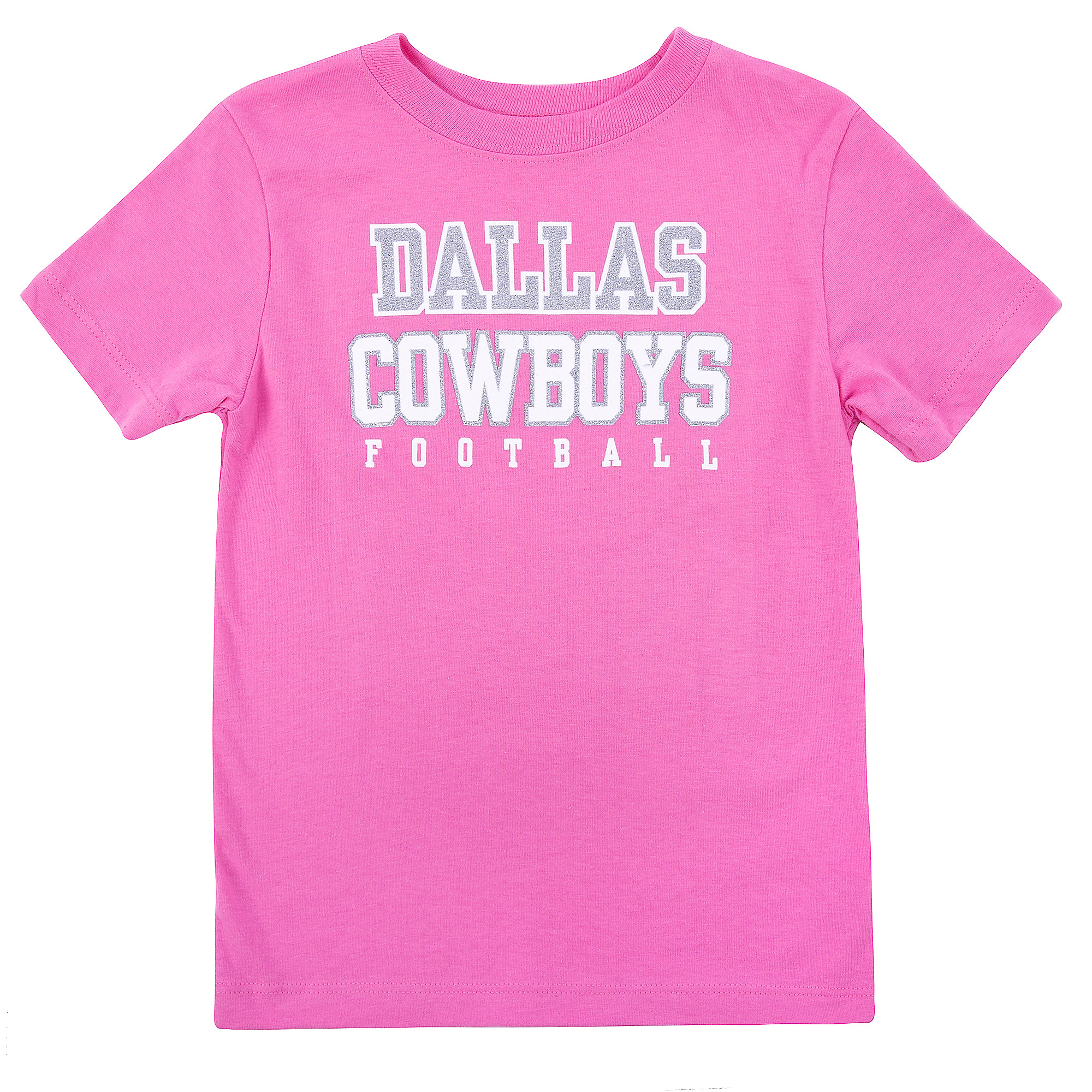 Dallas Cowboys Toddler Practice Glitter Tee