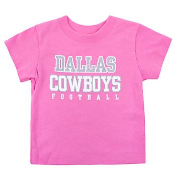 Dallas Cowboys Infant Practice Glitter T-Shirt