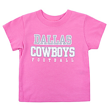 Dallas Cowboys Infant Practice Glitter T-Shirt