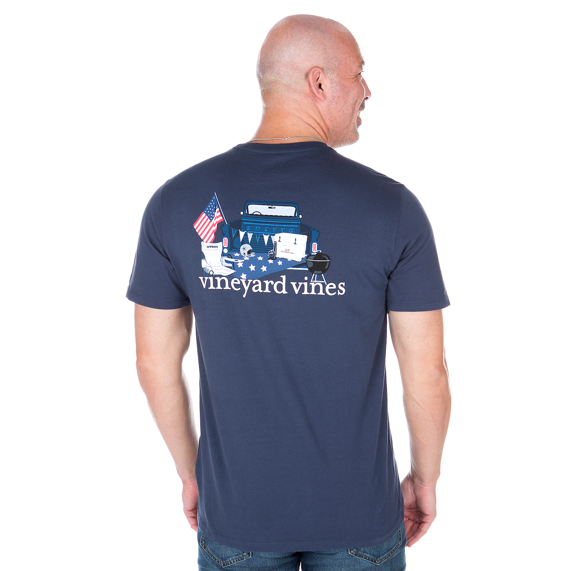 Dallas Cowboys Vineyard Vines Pickup Truck Short Sleeve Tee