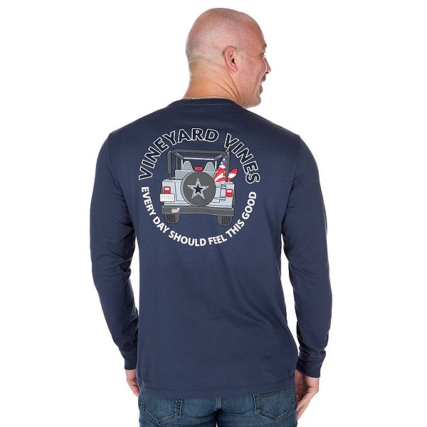 Dallas Cowboys Vineyard Vines Jeep Long Sleeve Tee