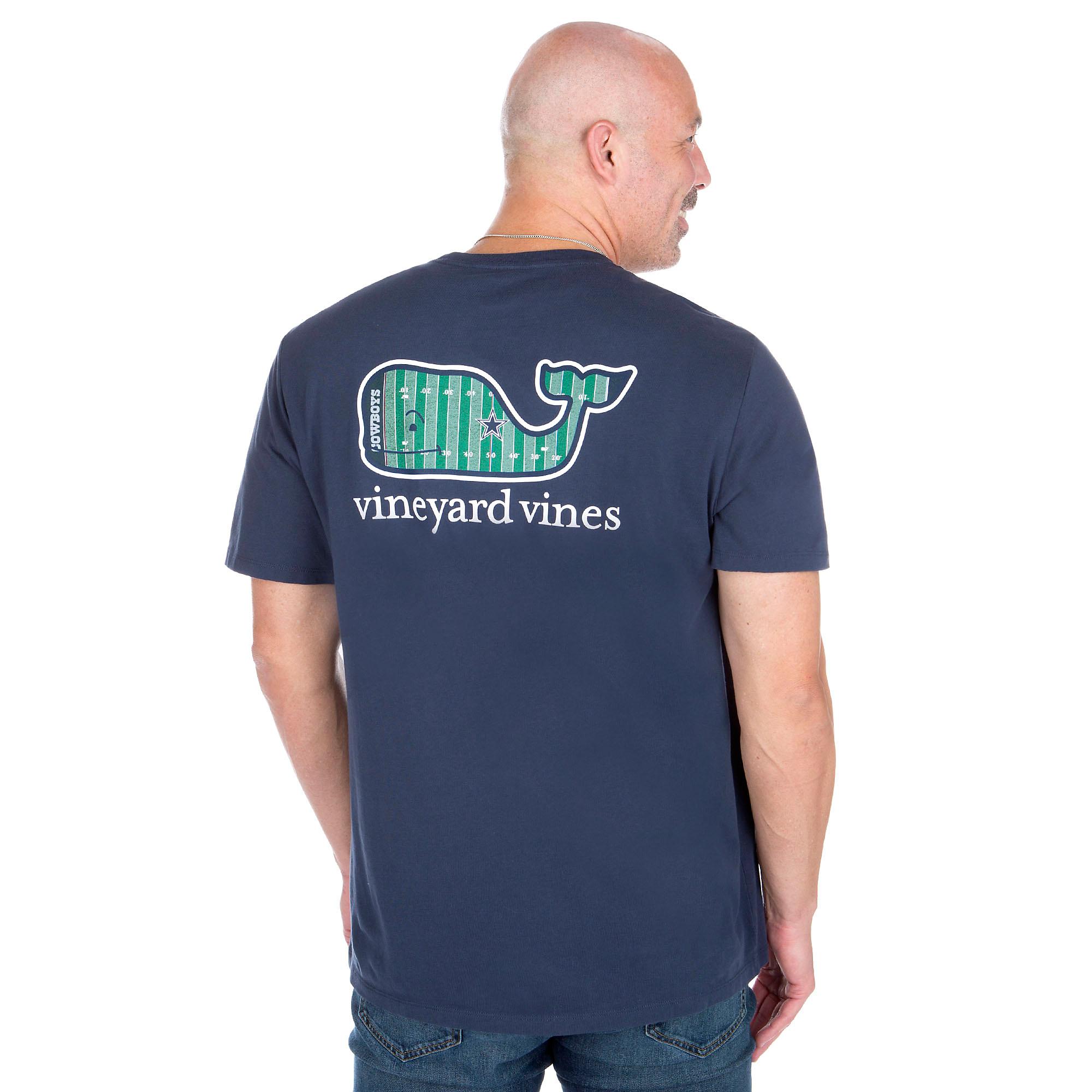 03d219dc7 Dallas Cowboys Vineyard Vines Yardline Whale Short Sleeve Tee