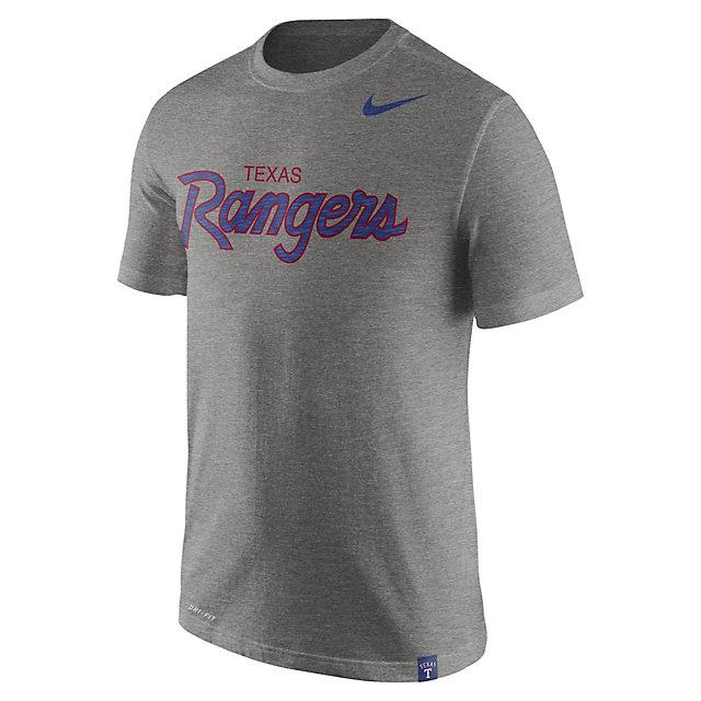 Texas Rangers Nike Script Slub Tee