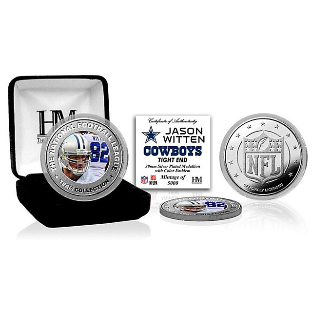 Dallas Cowboys Jason Witten Silver Color Coin