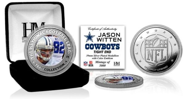 Dallas Cowboys Jason Witten Silver Color Coin