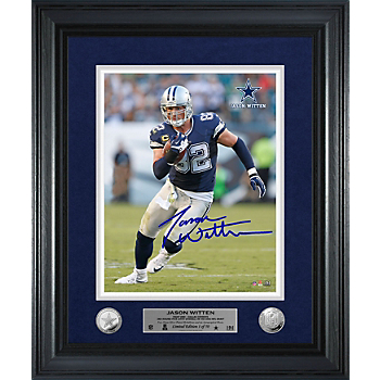Dallas Cowboys Jason Witten Away Game Autograph Photo Mint