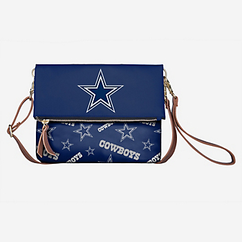 Dallas Cowboys Fold Over Print Crossbody