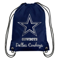 Dallas Cowboys Metallic Drawstring Backpack