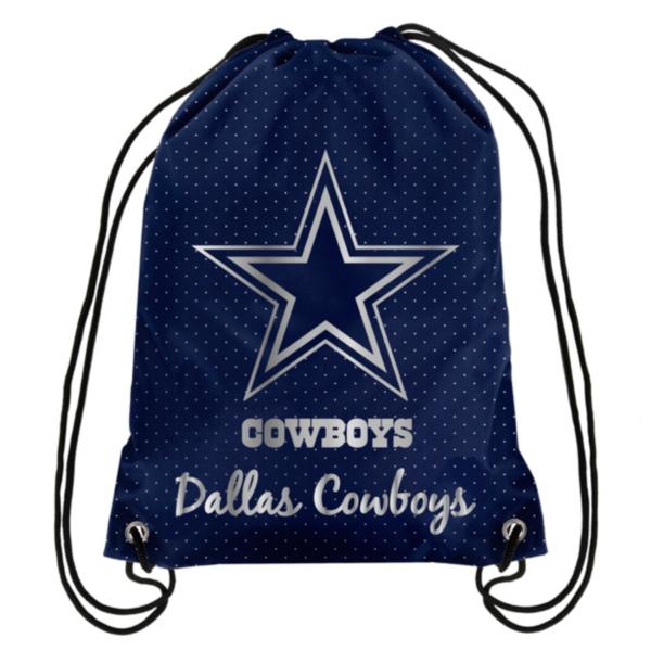 Dallas Cowboys Metallic Drawstring Backpack