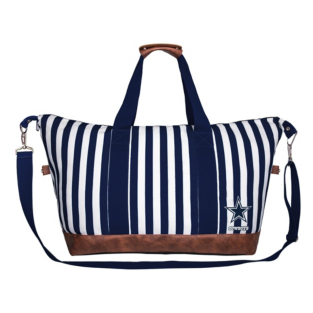 Dallas Cowboys Striped Weekender Tote