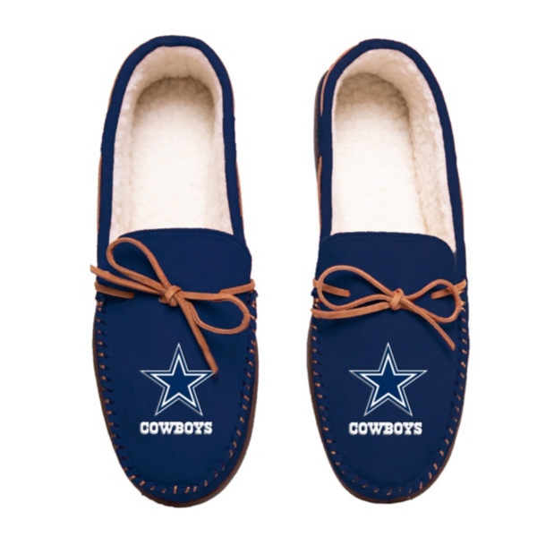 Dallas Cowboys Mens Logo Navy Moccasin