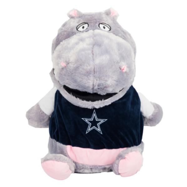 "Dallas Cowboys 10"" Plush Stuff 'Em Hippo"