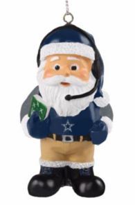 Dallas Cowboys Coach Santa Ornament