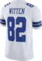 Dallas Cowboys Jason Witten #82 Commemorative Patch Nike Vapor Untouchable White Limited Jersey