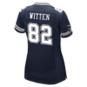 Dallas Cowboys Womens Jason Witten #82 Commemorative Patch Nike Navy Game Replica Jersey