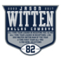 Dallas Cowboys Womens Jason Witten #82 Commemorative Patch Nike Navy Game Replica Jersey
