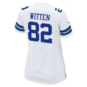 Dallas Cowboys Womens Jason Witten #82 Commemorative Patch Nike White Game Replica Jersey