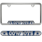 Dallas Cowboys Stainless Steel License Plate Frame