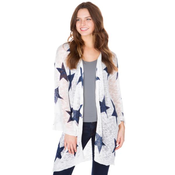 Studio Blank Paige Star Knit Open Cardigan