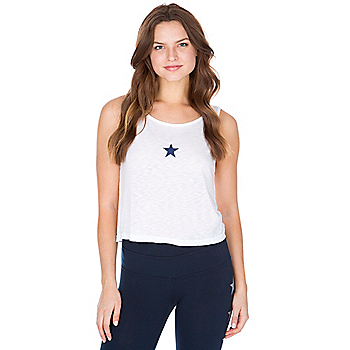 Studio Hard Tail Forever Star Cropped Boatneck Tank