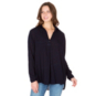 Studio Hard Tail Forever Navy Long Sleeve Oversized Blouse