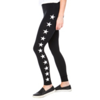 Hard Tail Forever Black High Rise Star Leggings