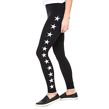 Studio Hard Tail Forever Black High Rise Star Leggings