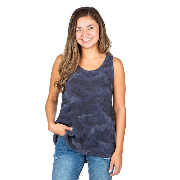 Hard Tail Forever Blue Camo Tank