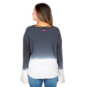 Hard Tail Forever Blue Ombre Bell Sleeve Top