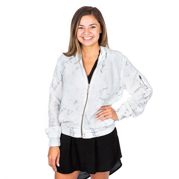 Hard Tail Forever Full-Zip Satin Jacket