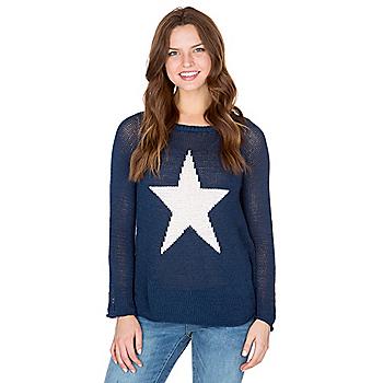 Studio Wooden Ships Navy Star Print Sweater