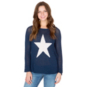 Studio Wooden Ships Navy Star Print Sweater