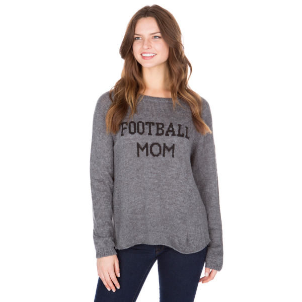 Studio Wooden Ships Football Mom Sweater
