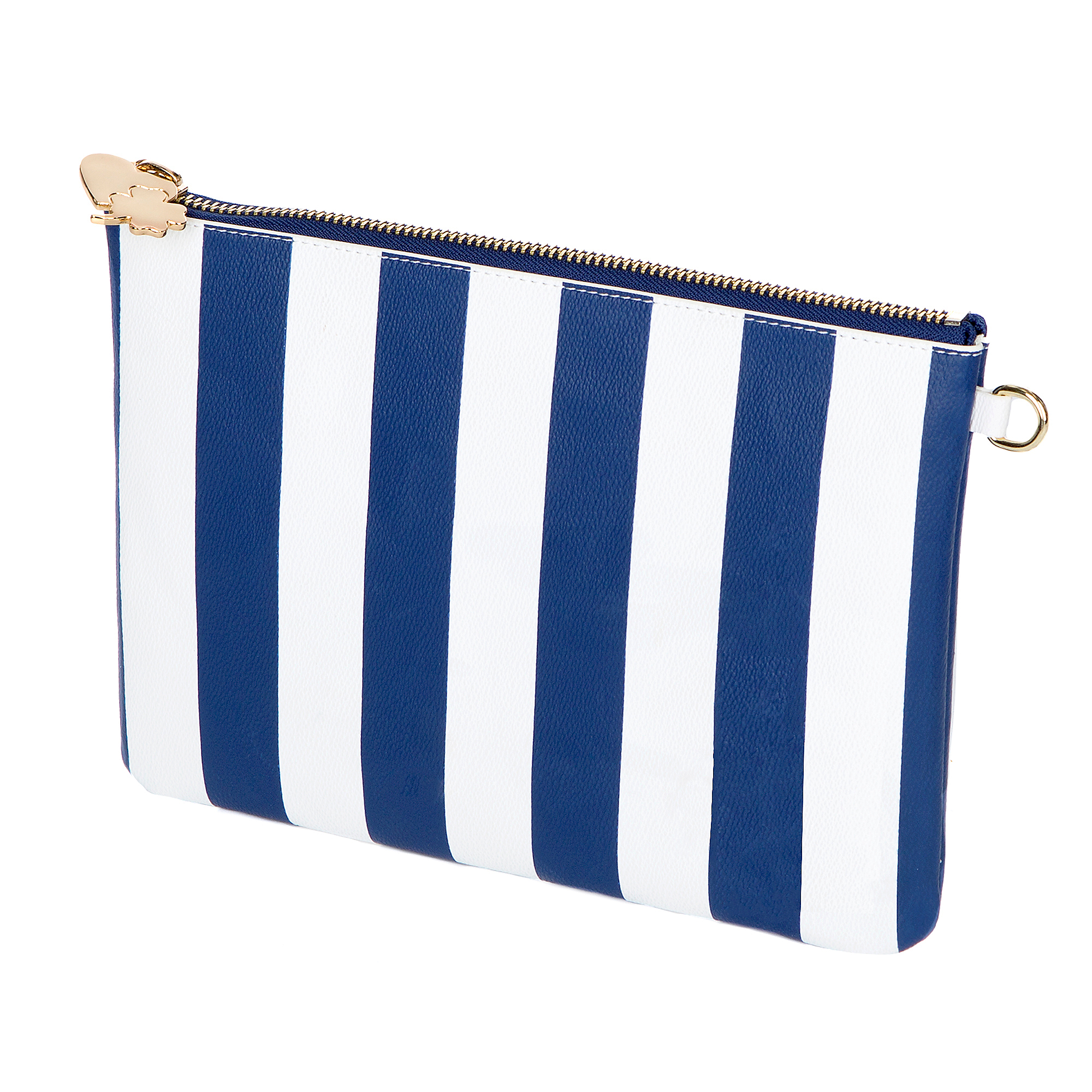 Studio Stoney Clover Lane Navy Stripe Clutch
