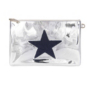 Studio Stoney Clover Lane Silver Patent Star Clutch