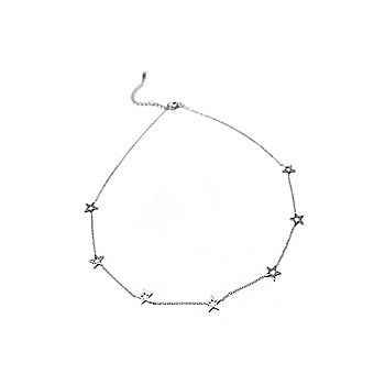 Studio Marlyn Schiff Silver Open Star Necklace