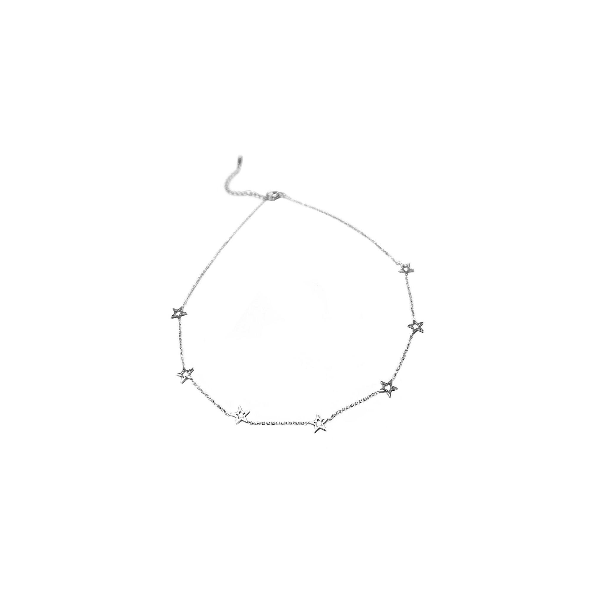 Studio Marlyn Schiff Silver Open Star Necklace