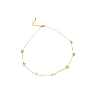Studio Marlyn Schiff Gold Open Star Necklace