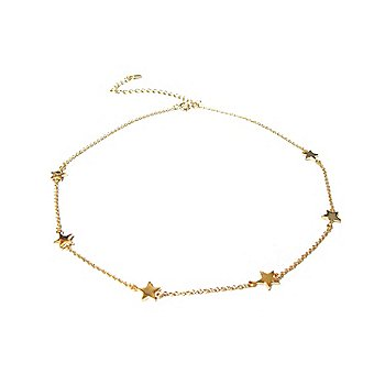 Marlyn Schiff Gold Star Necklace