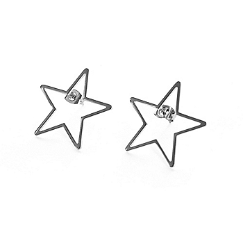 Studio Marlyn Schiff Silver Star Stud Earrings